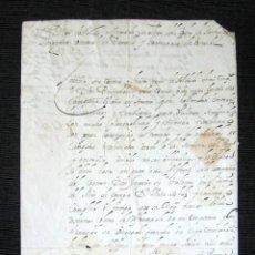 Manuscritos antiguos: AÑO 1682. OSTENDE, BÉLGICA. CERTIFICADO DON DIEGO DE RADA Y ALVARADO. LAREDO. FIRMA Y SELLO PLACADO.. Lote 121145695
