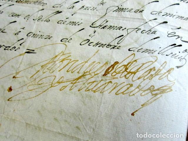 Manuscritos antiguos: AÑO 1682. OSTENDE, BÉLGICA. CERTIFICADO DON DIEGO DE RADA Y ALVARADO. LAREDO. FIRMA Y SELLO PLACADO. - Foto 3 - 121145695