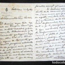 Manuscritos antiguos: AÑO 1917. SOLÓRZANO, SANTANDER. CARTA ORIGINAL DE ANTONIO MAURA. PRESIDENTE CONSEJO MINISTROS. . Lote 121147315