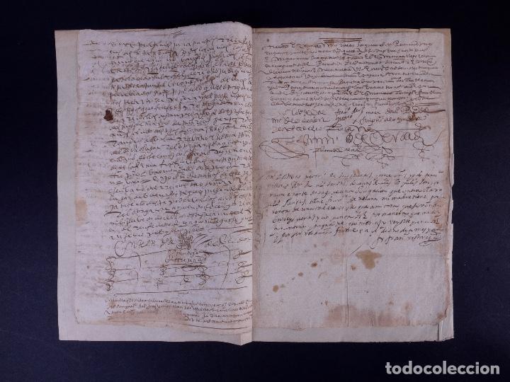 ESCRITURA DE PODER, ARENILLAS DE SAN PELAYO 1614 (Coleccionismo - Documentos - Manuscritos)