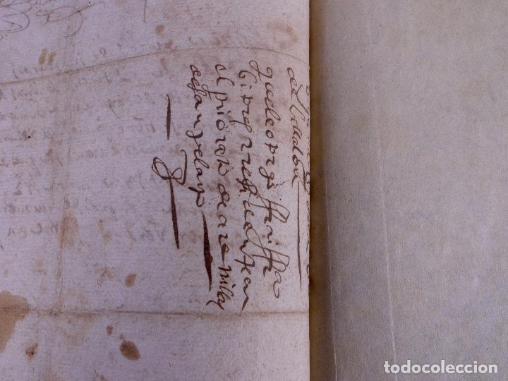 Manuscritos antiguos: ESCRITURA DE PODER, ARENILLAS DE SAN PELAYO 1614 - Foto 6 - 121605595