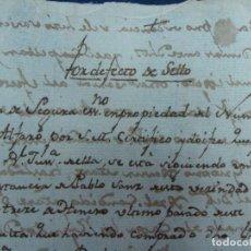 Manuscritos antiguos: RARO PSEUDO SELLO FISCAL. POR DEFECTO DE SELLO. GUERRA INDEPENDENCIA 1810. ALFARO LA RIOJA. Lote 122020615