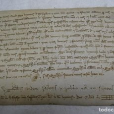 Manuscritos antiguos: PERGAMINO MANUSCRITO EN LATIN SIGLO XIII CATALUÑA 17 JUNIO 1239 . 19X13 CMS. Lote 122094027