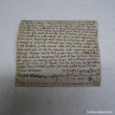 Manuscritos antiguos: PERGAMINO MANUSCRITO SIGLO XII AÑO 1197, 4 DE DICIEMBRE VICH.14X13 CMS. Lote 122094451