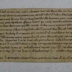 Manuscritos antiguos: PERGAMINO MANUSCRITO CATALAN SIGLO XII AÑO 1148, ESCRITO EN LATIN. 33X12,5 CMS. Lote 122094915