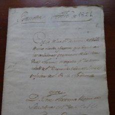 Manuscritos antiguos: GRANADA, 1821, VENTA TIENDA EN PLAZA BIBARRAMBLA. Lote 122193275