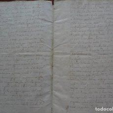 Manuscritos antiguos: FRÍAS, BURGOS, COMPROMISO DESLINDE VILLANUEVA DE LOS MONTES, 1733, Mº SAN SALVADOR DE OÑA, 28 PAGS. Lote 122197143
