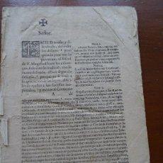 Manuscritos antiguos: GABRIEL BOLAÑOS, 1650, DEFENSA DE LOS ASESINOS DEL REY DE INGLATERRA, 43 PAGS. Lote 122198271