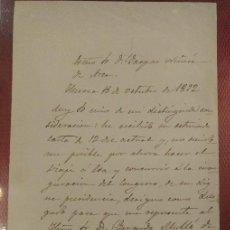Manuscritos antiguos: DOCUMENTO Y FIRMA DEL OBISPO DE HUESCA NACIDO EN CALMARZA (ZARAGOZA) VICENTE ALDA Y SANCHO. Lote 122453083