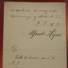 Manuscritos antiguos: DOCUMENTO CON FIRMA DEL POETA NACIDO EN MEXICO ALFREDO HIJAR. Lote 122454491