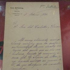 Manuscritos antiguos: DOCUMENTO CON FIRMA DEL POLÍTICO Y PERIODISTA DIRECTOR DE LA EPOCA ALFREDO ESCOBAR CHILE. AÑO 1895. Lote 122455471