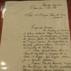 Manuscritos antiguos: DOCUMENTO CON FIRMA DEL POETA Y DIPLOMÁTICO DE ARGENTINA LEOPOLOD DIAZ. Lote 122455687