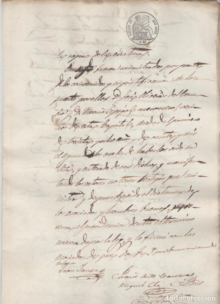 NUMULITE A3023 DOCUMENTO MANUSCRITO GERONA 1853 JUICIO MEDIADO 7 PÁGINAS GIRONA (Coleccionismo - Documentos - Manuscritos)