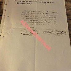 Manuscritos antiguos: NOMBRAMIENTO DE DIPUTADO. CAZORLA, JAEN. AÑO 1850. CONGRESO DE LOS DIPUTADOS.SELLO EN SECO. Lote 123253571