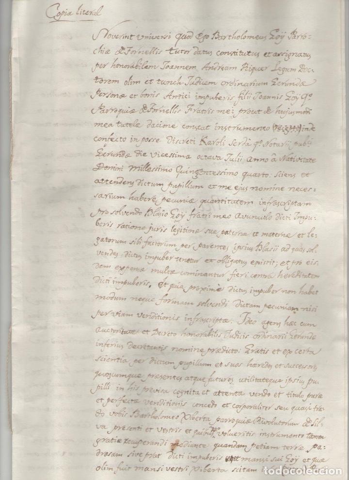 NUMULITE A3025 DOCUMENTO MANUSCRITO 1517 GERONA COPIA LITERAL 8 PÁGINAS (Coleccionismo - Documentos - Manuscritos)