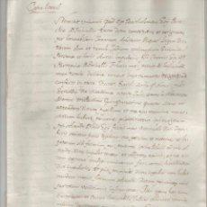 Manuscritos antiguos: NUMULITE A3025 DOCUMENTO MANUSCRITO 1517 GERONA COPIA LITERAL 8 PÁGINAS . Lote 123280935