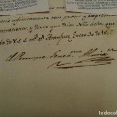 Manuscritos antiguos: GODOY. 1807. CARTA Y FIRMA ORIGINAL. DIRIGIDA CASA MISERICORDIA DE ZARAGOZA. Lote 124089803