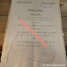 Manuscritos antiguos: CAZORLA, 1883, ESCRITURA COMPRA VENTA DERECHOS AL TRABAJO PRESTADO EN CRIAR PLANTONES DE OLIVOS, . Lote 124407891