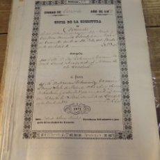 Manuscritos antiguos: CAZORLA, 1862, ESCRITURA DE PERMUTA DE UN OLIVAR. Lote 124442667
