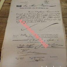 Manuscritos antiguos: JAEN, 1856, PAGO SUBASTA MONTES DEL ESTADO, 50 PINOS, RARO. Lote 124551599
