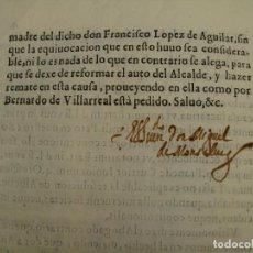 Manuscritos antiguos: PRIMERA MITAD SIGLO XVII. BERNARDO VECINO DE ALMAGRO CON FRANCISCO LÓPEZ DE AGUILAR DE MADRID.. Lote 124652771