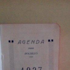 Manuscritos antiguos: AGENDA 1927. Lote 125083667
