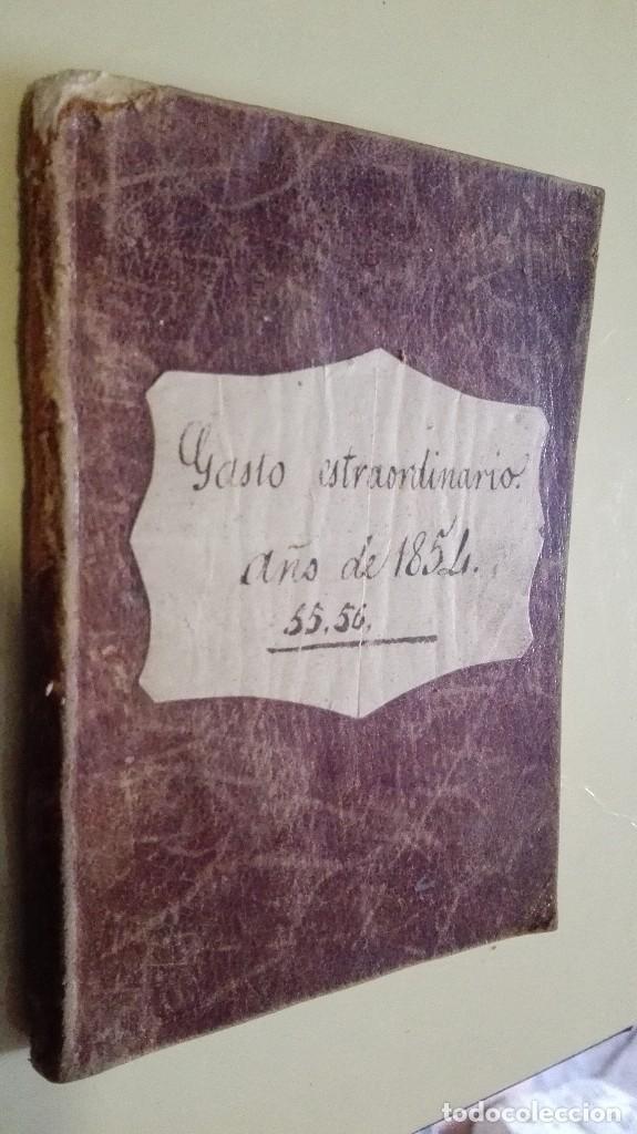 LIBRETA PEQUEÑA GASTO EXTRAORDINARIO 1854 (Coleccionismo - Documentos - Manuscritos)