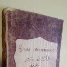 Manuscritos antiguos: LIBRETA PEQUEÑA GASTO EXTRAORDINARIO 1854. Lote 125129463