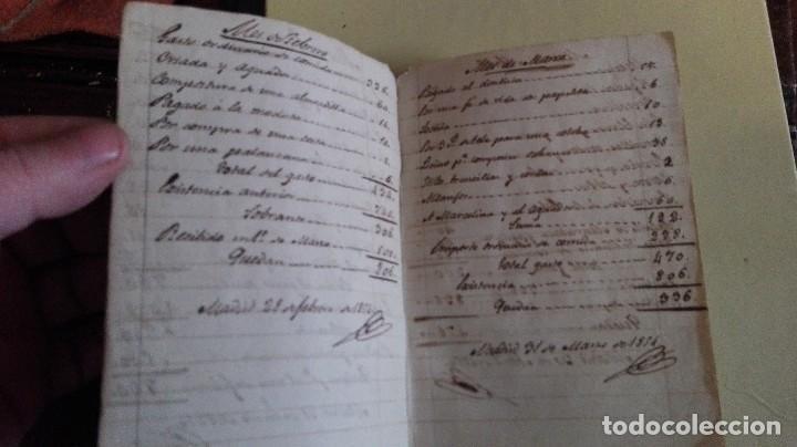 Manuscritos antiguos: LIBRETA PEQUEÑA GASTO EXTRAORDINARIO 1854 - Foto 2 - 125129463