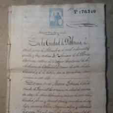 Manuscritos antiguos: PALENCIA 1873 DOCUMENTO ANTIGUO 20 PAGINAS.. Lote 125144282
