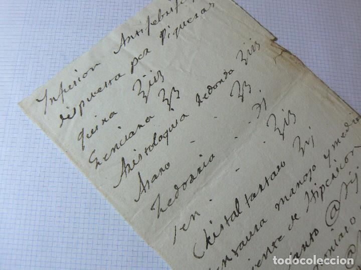 Manuscritos antiguos: MANUSCRITO ANTIGUO SIGLO XIX RECETA MEDICA ALQUIMIA C - Foto 3 - 125198027