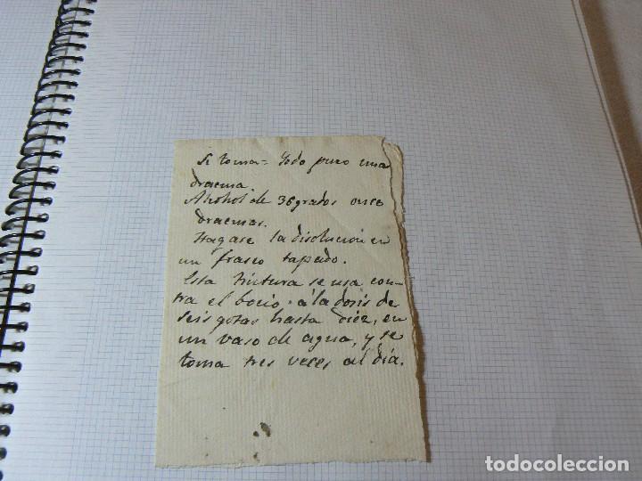Manuscritos antiguos: MANUSCRITO ANTIGUO SIGLO XIX RECETA MEDICA ALQUIMIA B - Foto 2 - 125198139