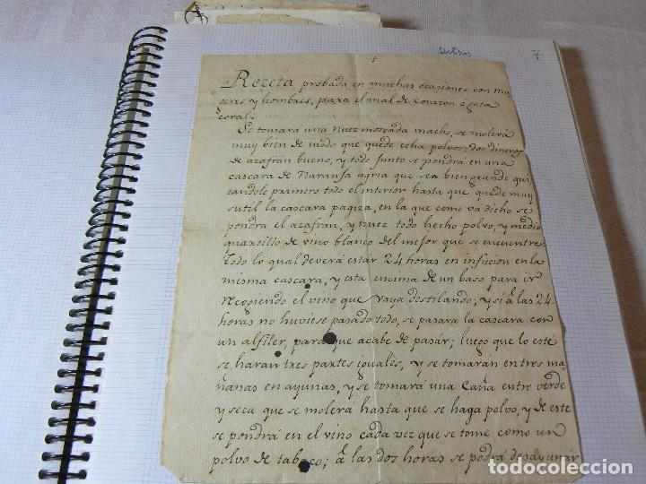 Manuscritos antiguos: MANUSCRITO ANTIGUO SIGLO XIX RECETA MEDICA ALQUIMIA PARA EL MAL DE CORAZON - Foto 2 - 125198211