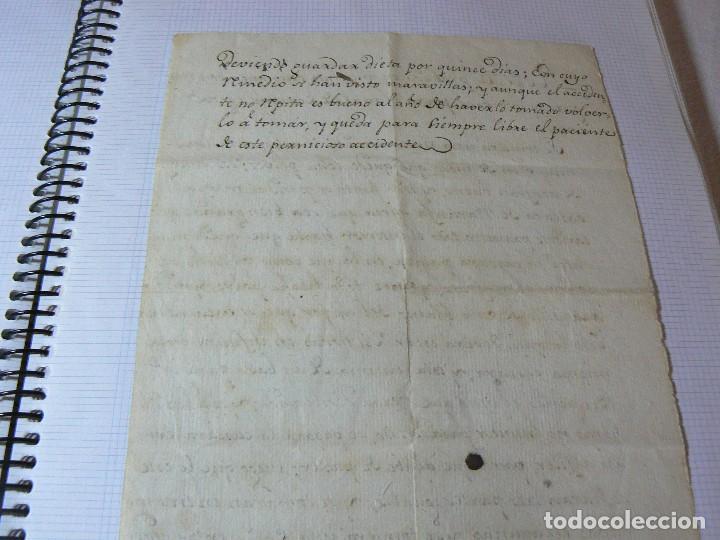 Manuscritos antiguos: MANUSCRITO ANTIGUO SIGLO XIX RECETA MEDICA ALQUIMIA PARA EL MAL DE CORAZON - Foto 6 - 125198211