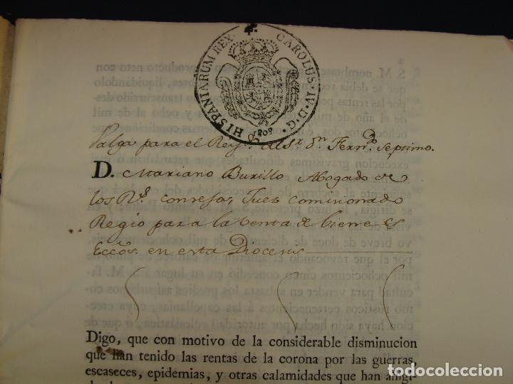 MUY RARO. DESAMORTIZACIÓN 1808. VILLA DE AMBEL. LEANDRO FERNANDEZ MORATIN. ALBETA. ZARAGOZA (Coleccionismo - Documentos - Manuscritos)