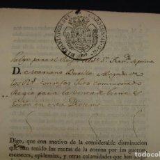 Manuscritos antiguos: MUY RARO. DESAMORTIZACIÓN 1808. VILLA DE AMBEL. LEANDRO FERNANDEZ MORATIN. ALBETA. ZARAGOZA. Lote 125419211