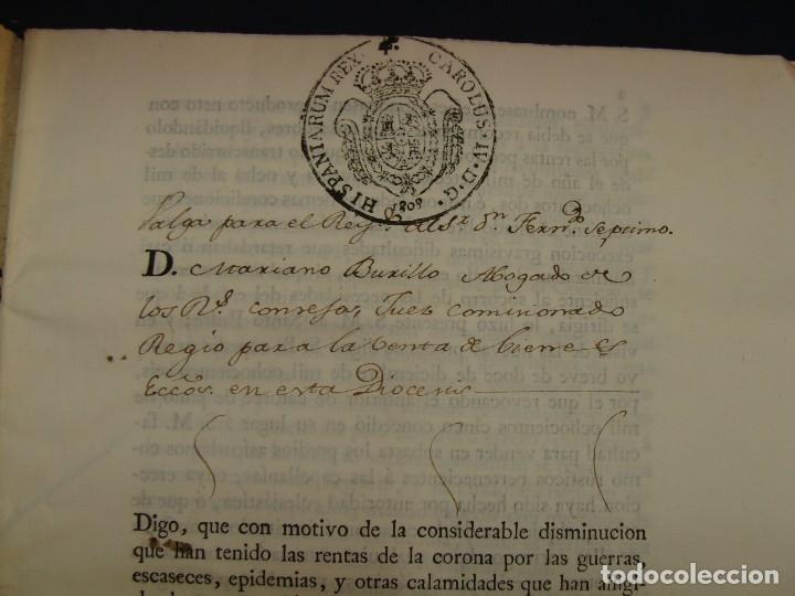 Manuscritos antiguos: MUY RARO. DESAMORTIZACIÓN 1808. VILLA DE AMBEL. LEANDRO FERNANDEZ MORATIN. ALBETA. ZARAGOZA - Foto 3 - 125419211
