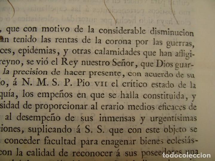 Manuscritos antiguos: MUY RARO. DESAMORTIZACIÓN 1808. VILLA DE AMBEL. LEANDRO FERNANDEZ MORATIN. ALBETA. ZARAGOZA - Foto 5 - 125419211