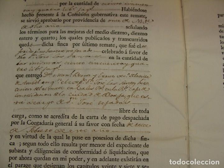 Manuscritos antiguos: MUY RARO. DESAMORTIZACIÓN 1808. VILLA DE AMBEL. LEANDRO FERNANDEZ MORATIN. ALBETA. ZARAGOZA - Foto 7 - 125419211