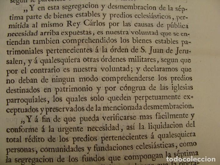 Manuscritos antiguos: MUY RARO. DESAMORTIZACIÓN 1808. VILLA DE AMBEL. LEANDRO FERNANDEZ MORATIN. ALBETA. ZARAGOZA - Foto 9 - 125419211