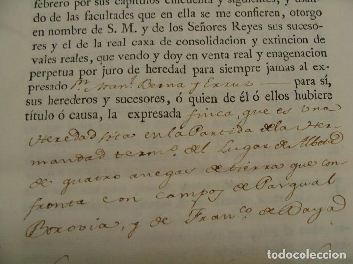 Manuscritos antiguos: MUY RARO. DESAMORTIZACIÓN 1808. VILLA DE AMBEL. LEANDRO FERNANDEZ MORATIN. ALBETA. ZARAGOZA - Foto 13 - 125419211