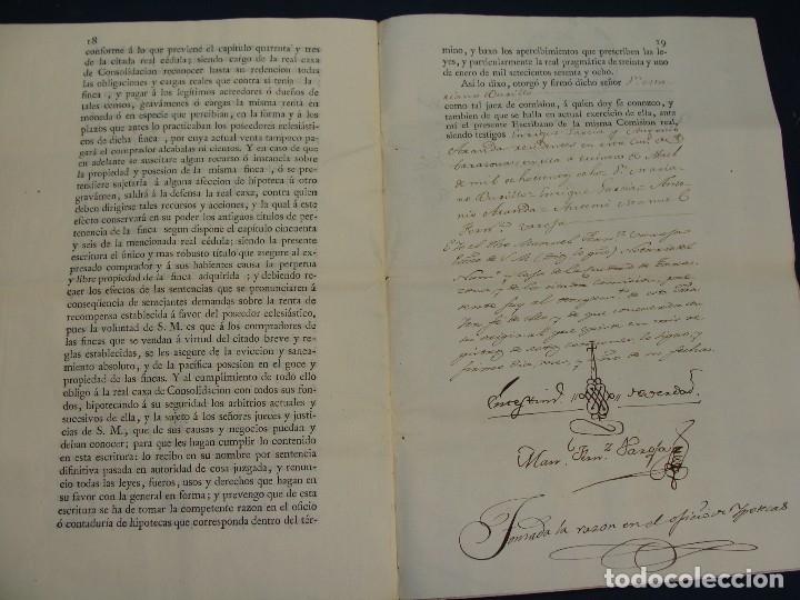 Manuscritos antiguos: MUY RARO. DESAMORTIZACIÓN 1808. VILLA DE AMBEL. LEANDRO FERNANDEZ MORATIN. ALBETA. ZARAGOZA - Foto 14 - 125419211