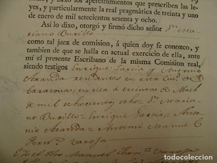 Manuscritos antiguos: MUY RARO. DESAMORTIZACIÓN 1808. VILLA DE AMBEL. LEANDRO FERNANDEZ MORATIN. ALBETA. ZARAGOZA - Foto 15 - 125419211