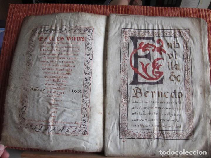 Manuscritos antiguos: 1633-CARTA DE UNIÓN DE LA VILLA DE BERNEDO CON LA CIUDAD DE VITORIA.ÚNICO.COMPLETO EN PERGAMINO. - Foto 4 - 125906095