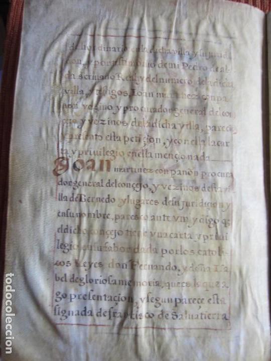 Manuscritos antiguos: 1633-CARTA DE UNIÓN DE LA VILLA DE BERNEDO CON LA CIUDAD DE VITORIA.ÚNICO.COMPLETO EN PERGAMINO. - Foto 6 - 125906095