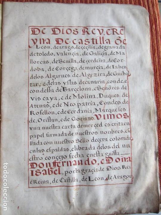 Manuscritos antiguos: 1633-CARTA DE UNIÓN DE LA VILLA DE BERNEDO CON LA CIUDAD DE VITORIA.ÚNICO.COMPLETO EN PERGAMINO. - Foto 11 - 125906095