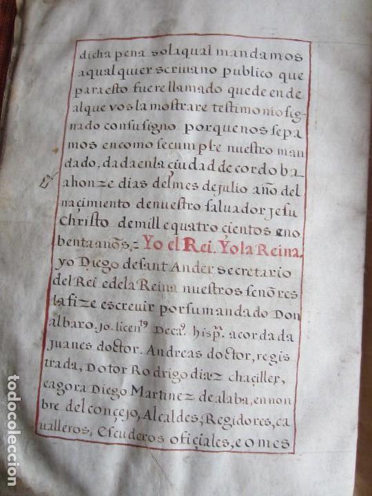 Manuscritos antiguos: 1633-CARTA DE UNIÓN DE LA VILLA DE BERNEDO CON LA CIUDAD DE VITORIA.ÚNICO.COMPLETO EN PERGAMINO. - Foto 13 - 125906095