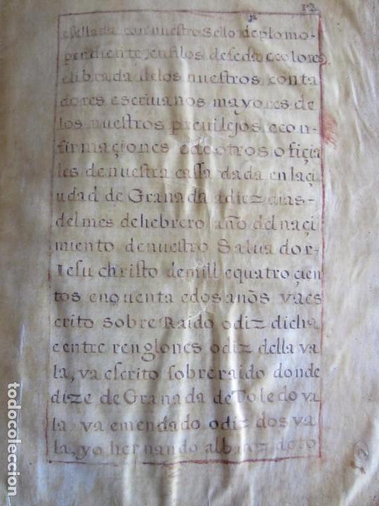 Manuscritos antiguos: 1633-CARTA DE UNIÓN DE LA VILLA DE BERNEDO CON LA CIUDAD DE VITORIA.ÚNICO.COMPLETO EN PERGAMINO. - Foto 16 - 125906095