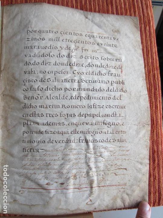 Manuscritos antiguos: 1633-CARTA DE UNIÓN DE LA VILLA DE BERNEDO CON LA CIUDAD DE VITORIA.ÚNICO.COMPLETO EN PERGAMINO. - Foto 18 - 125906095