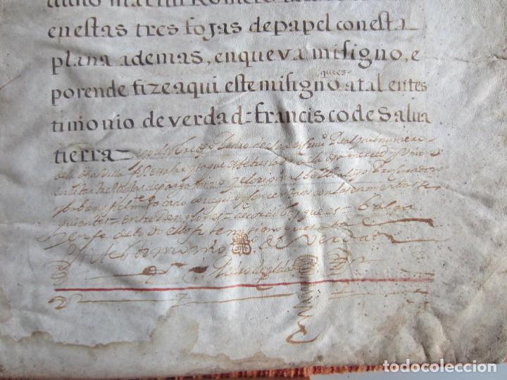 Manuscritos antiguos: 1633-CARTA DE UNIÓN DE LA VILLA DE BERNEDO CON LA CIUDAD DE VITORIA.ÚNICO.COMPLETO EN PERGAMINO. - Foto 19 - 125906095